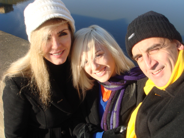 Karen Brooks in Florence with family